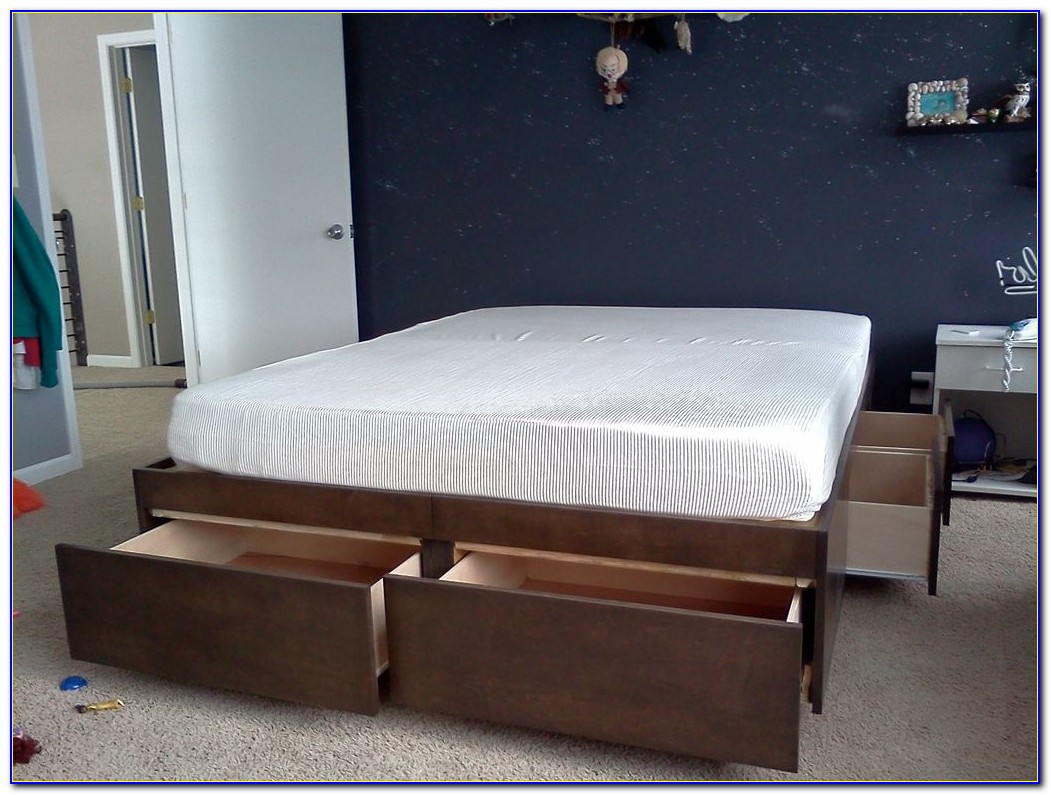 King Storage Bed Frame Without Headboard