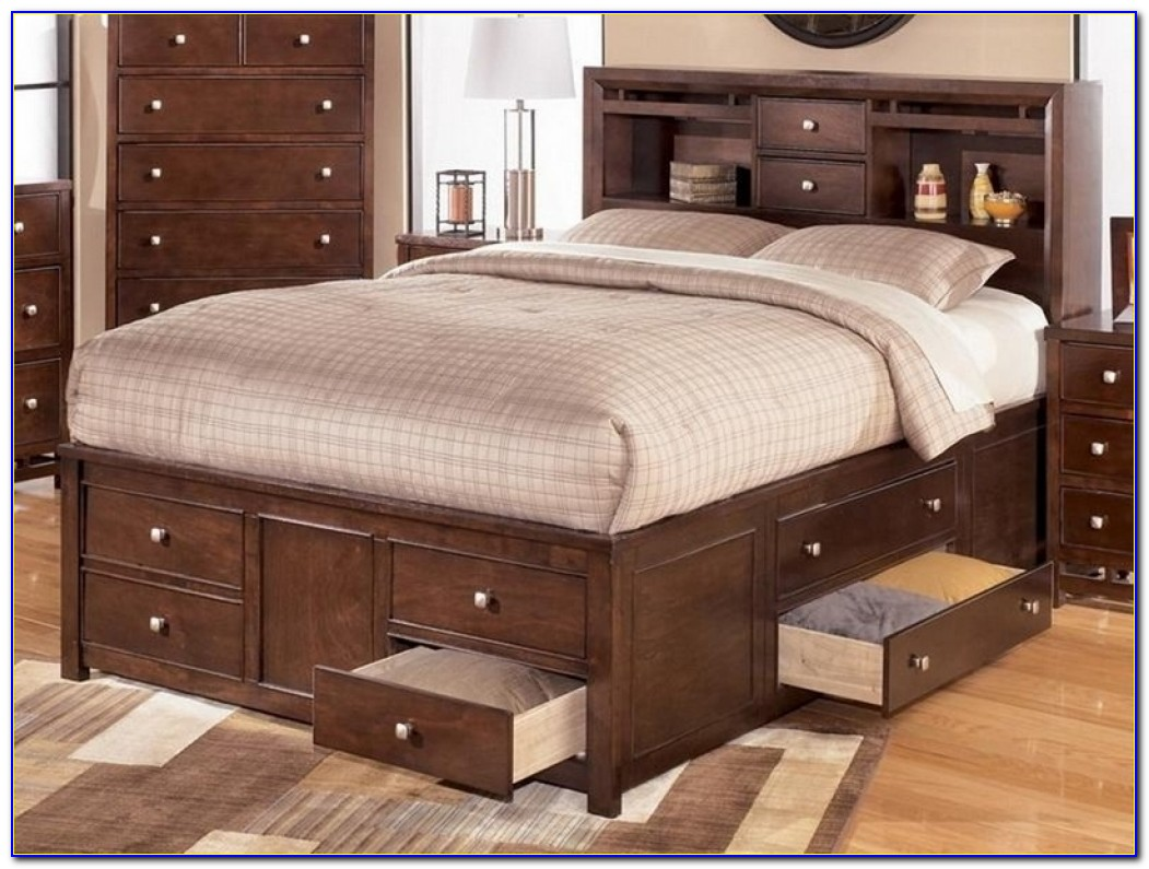 King Beds With Storage Drawers Underneath Ideas King Beds With Queen Size Bed Frame With Storage Underneath