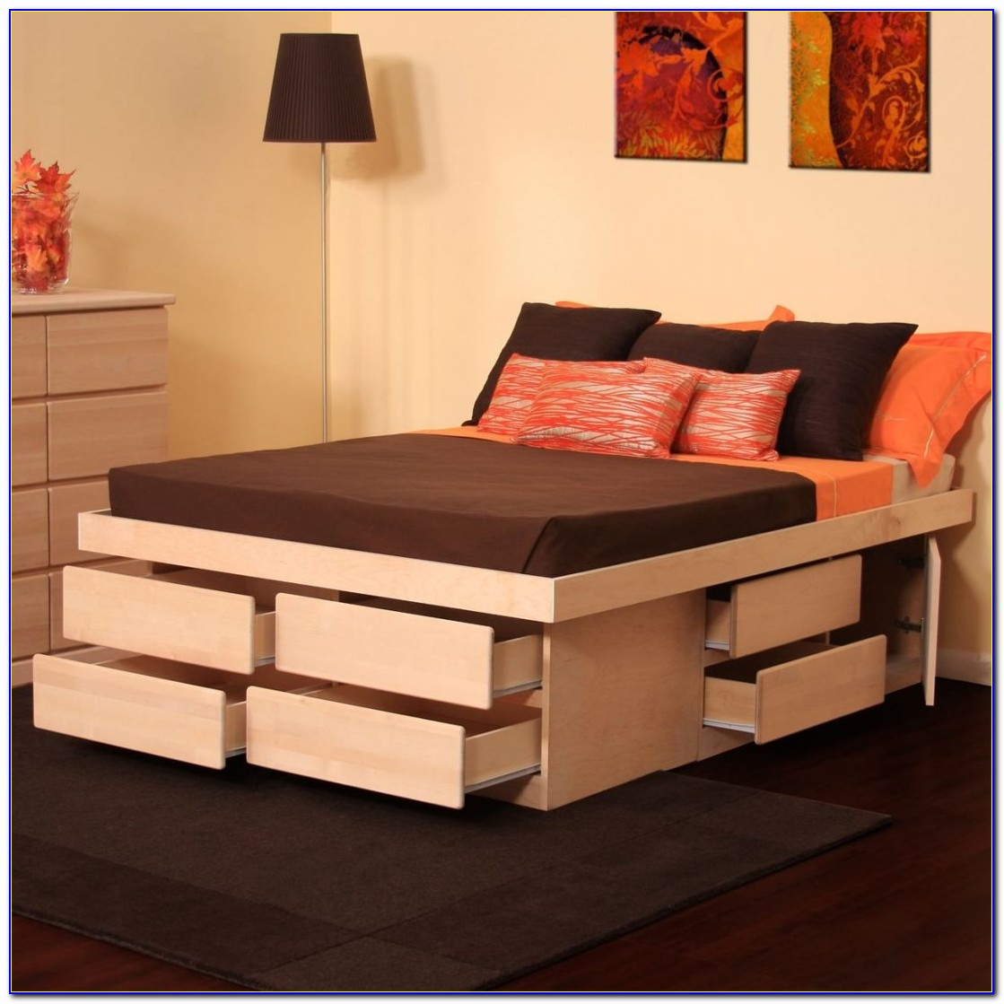 King Size Bed Headboard With Drawers