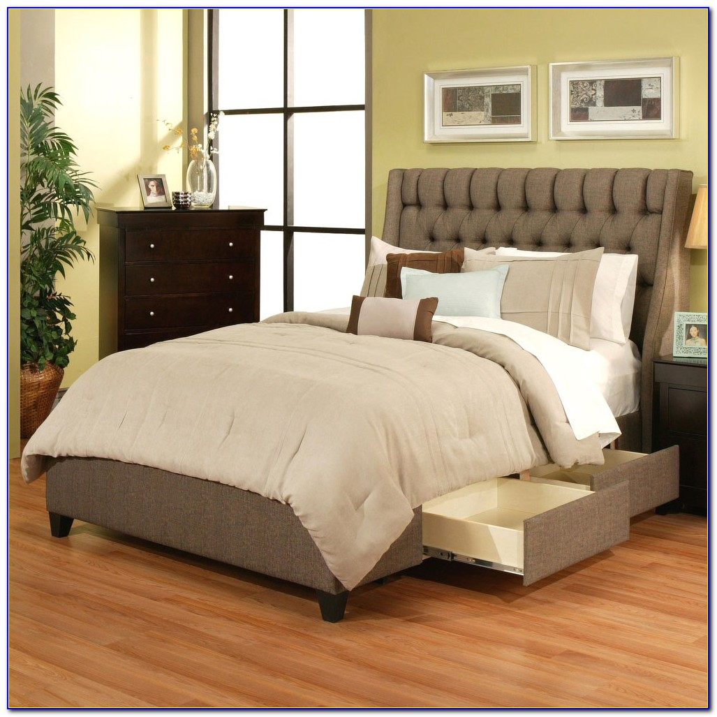 King Size Bed With Headboard Storage