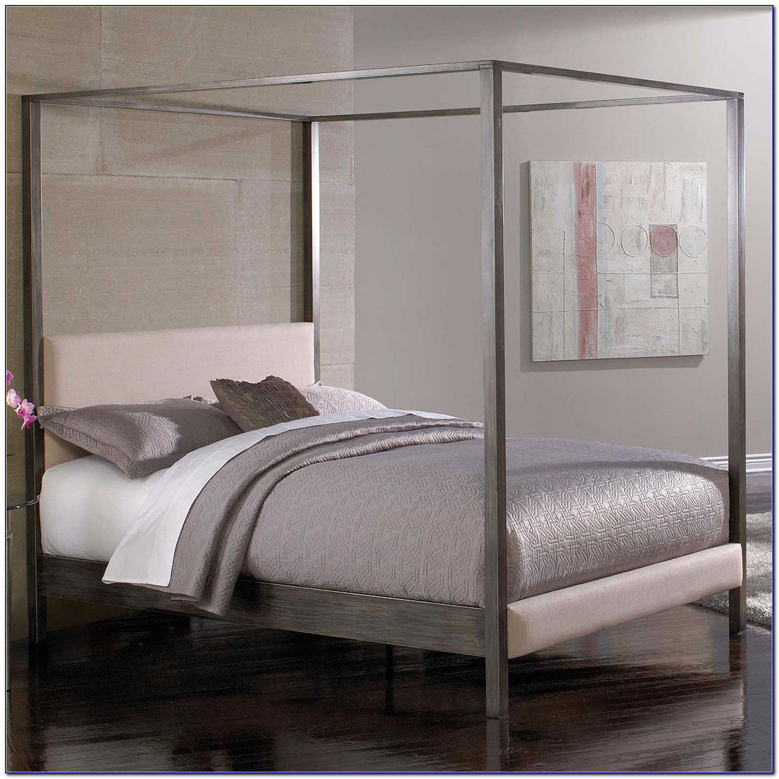 King Size Platform Bed Frame And Headboard