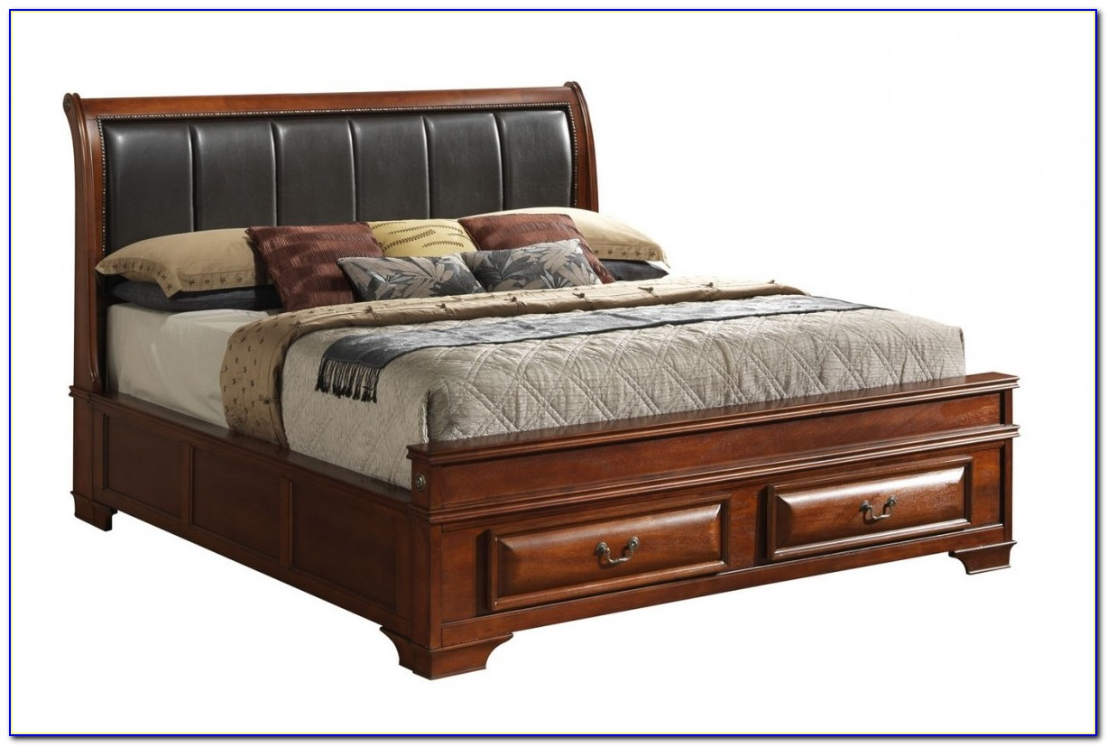 King Size Platform Bed With Storage No Headboard
