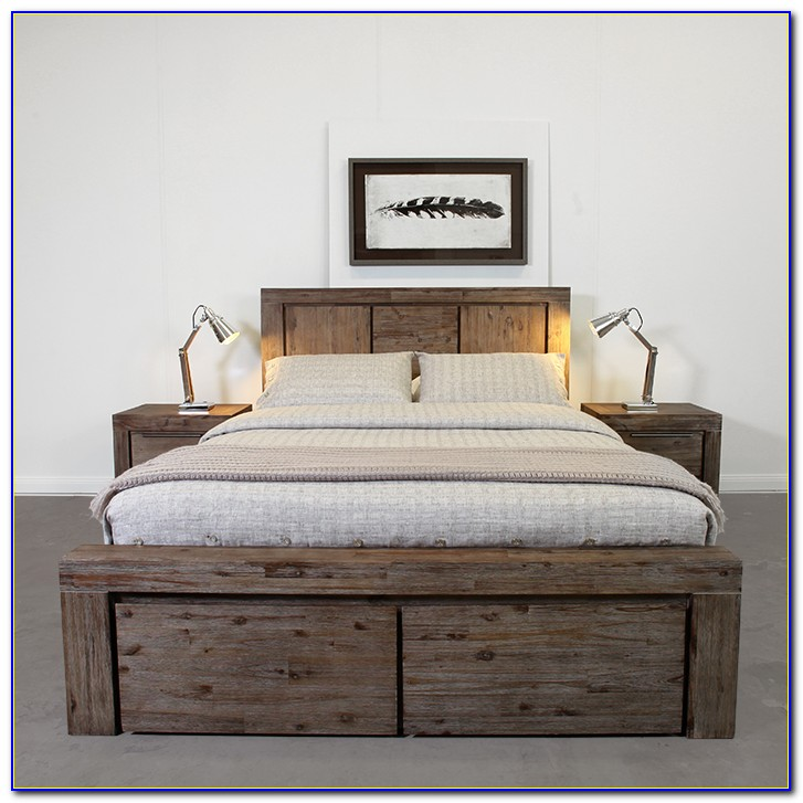 King Size Tufted Headboard And Frame