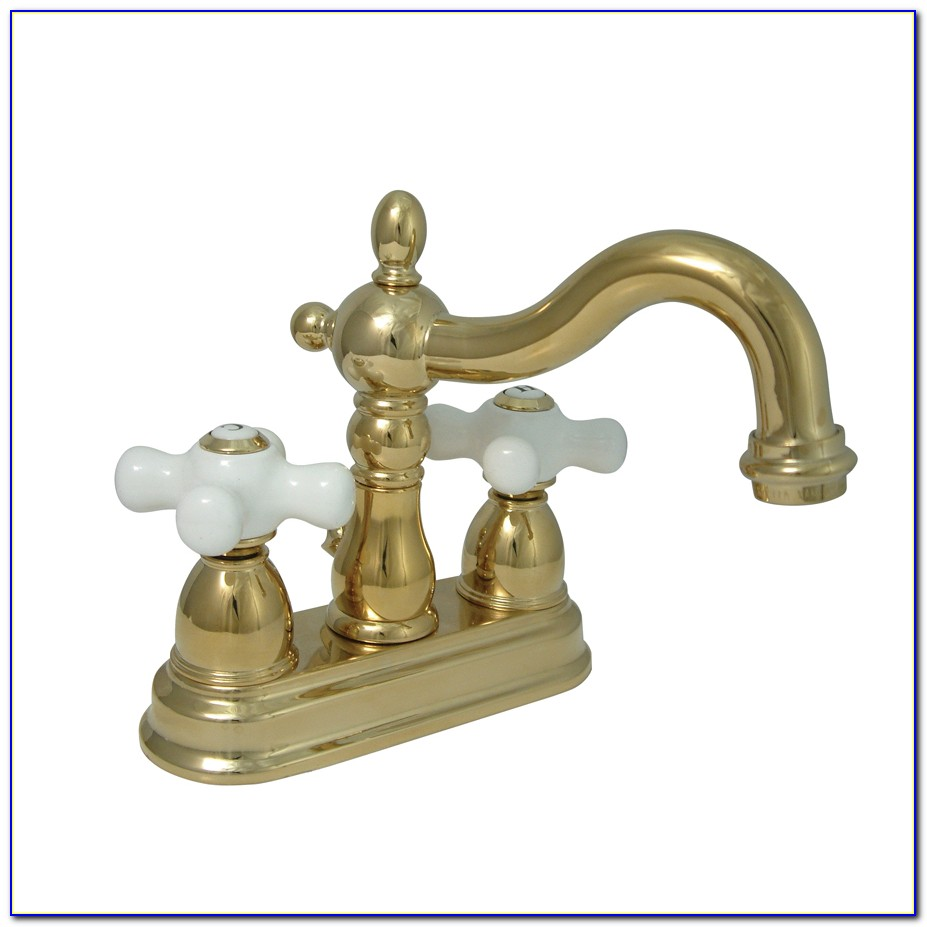 Kingston Polished Brass Bathroom Faucets