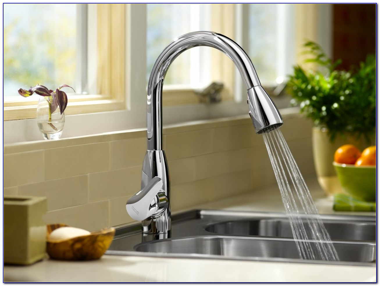 Kitchen Faucet With Built In Filtered Water Dispenser