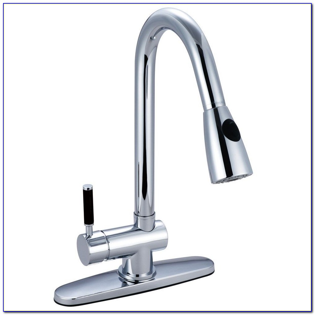 Kitchen Faucets Single Handle With Pull Down Sprayer