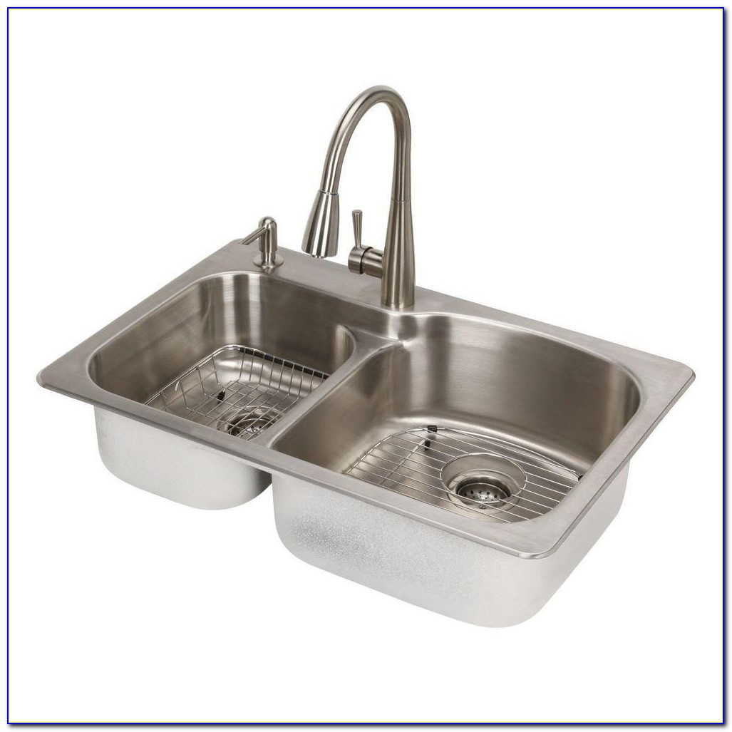 Top Mount Kitchen Sink And Faucet Combo Top Mount Kitchen Sink And Faucet Combo Glacier Bay All In One Dual Mount Stainless Steel 33 In 2 Hole 1000 X 1000