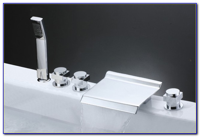 Knox Roman Waterfall Tub Faucet And Hand Shower