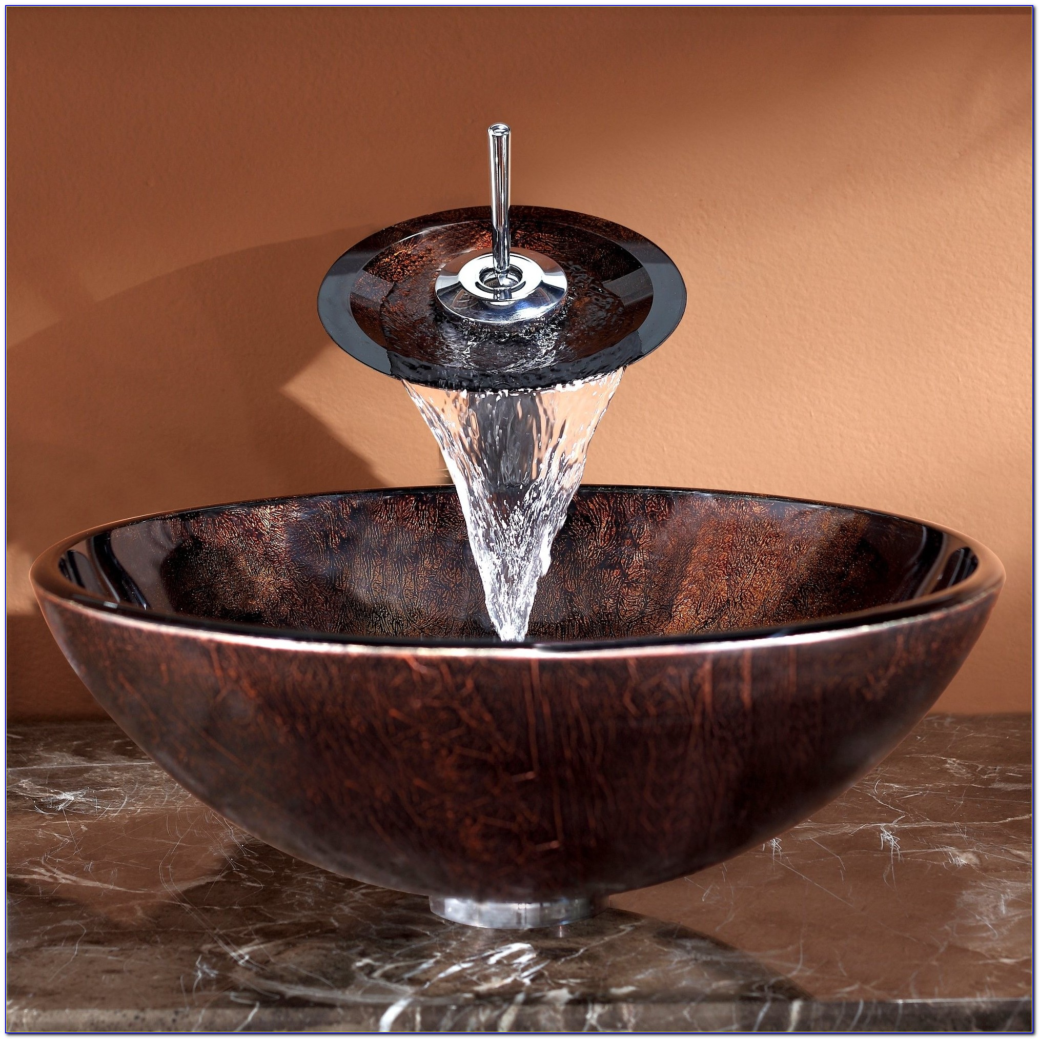 Kraus Vessel Sink And Waterfall Faucet Combo Kraus Vessel Sink And Waterfall Faucet Combo Bathroom Glass Vessel Sink And Faucet Combination Kraususa 2000 X 2000