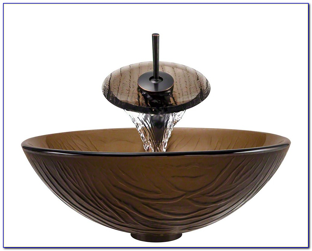 Kraus Vessel Sink With Waterfall Faucet