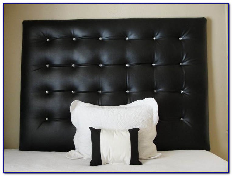 Leather Tufted Headboard With Crystals