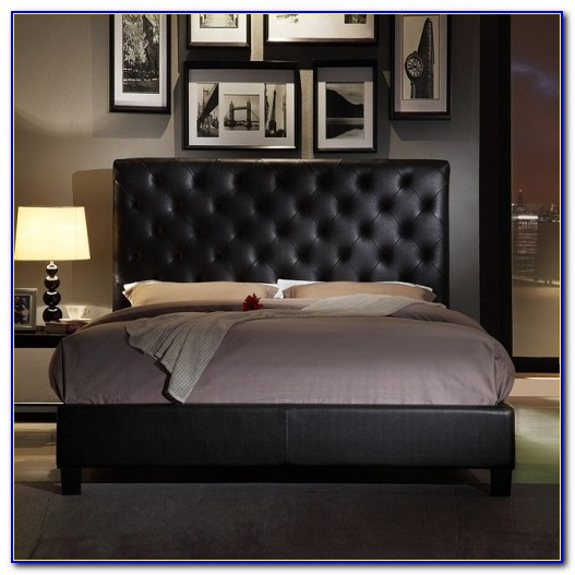 Metal Bed Frames With Leather Headboard