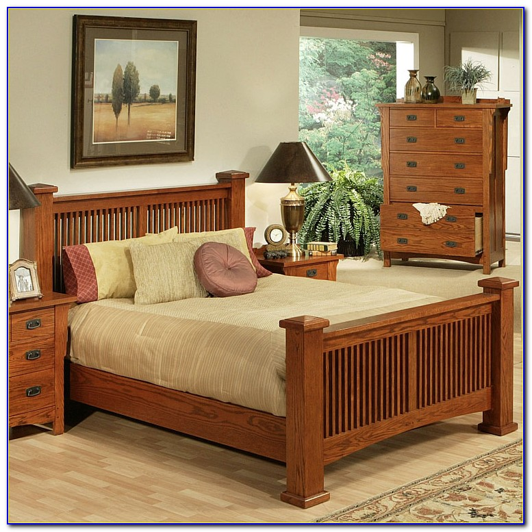 Mission Style King Headboard And Footboard