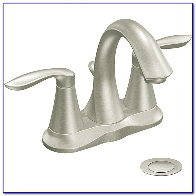 Moen 6410bn Eva Two Handle Bathroom Faucet Brushed Nickel Free Brushed Nickel Bathroom Fixtures | 650 X 650
