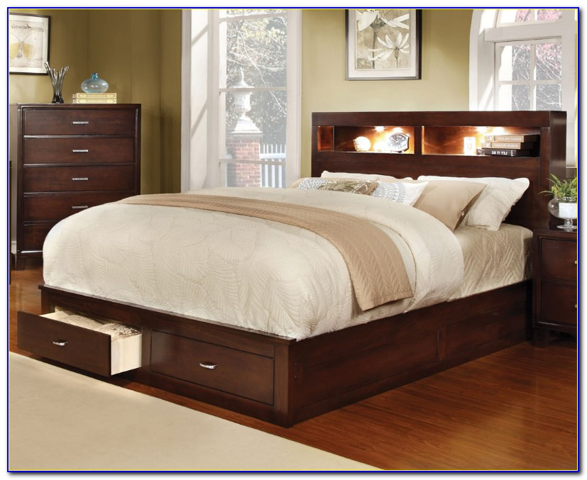 Platform Beds With Headboard Full
