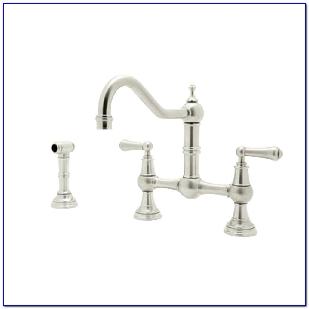 Polished Nickel Kitchen Faucet Bridge