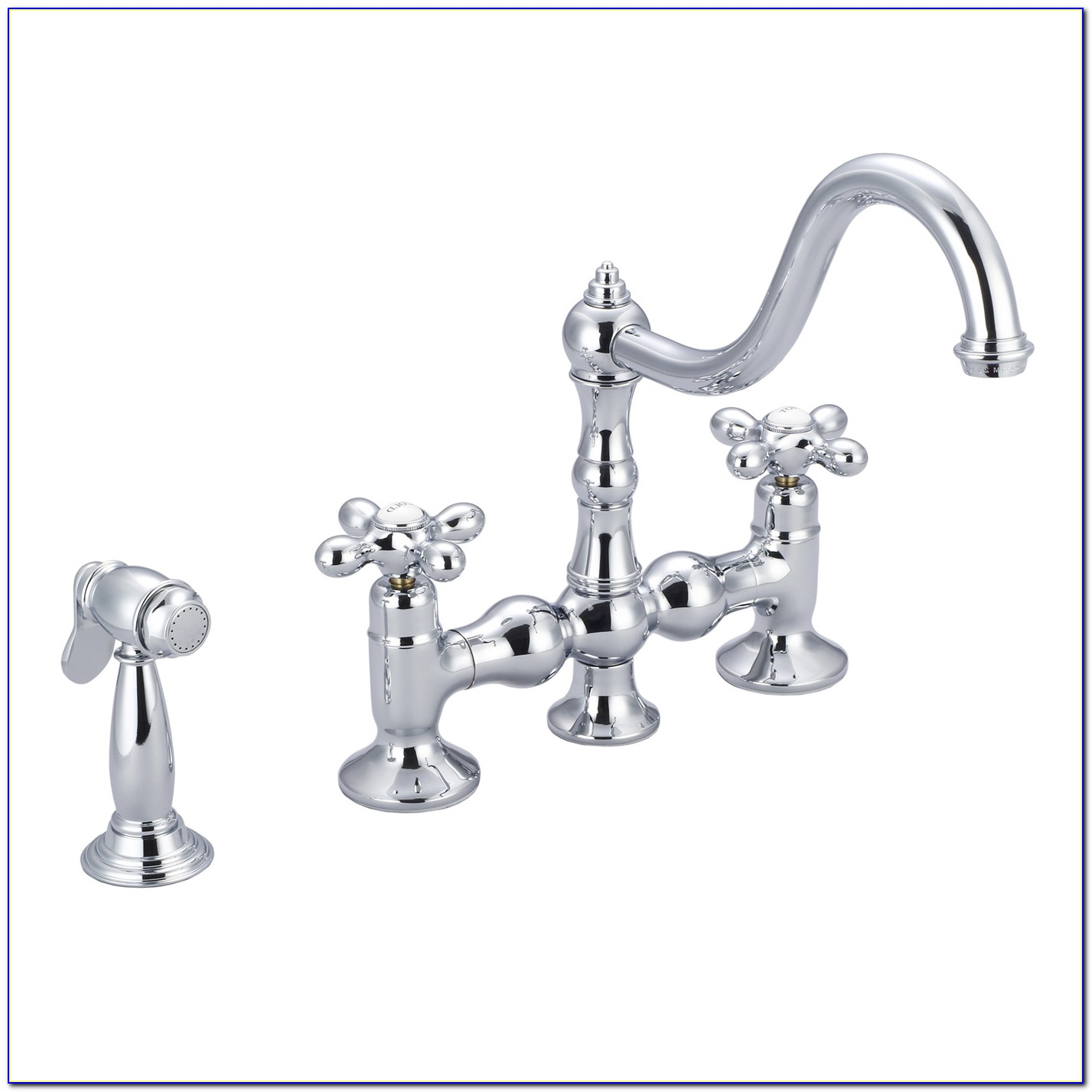 Ponticello Bridge Kitchen Faucet With Side Spray