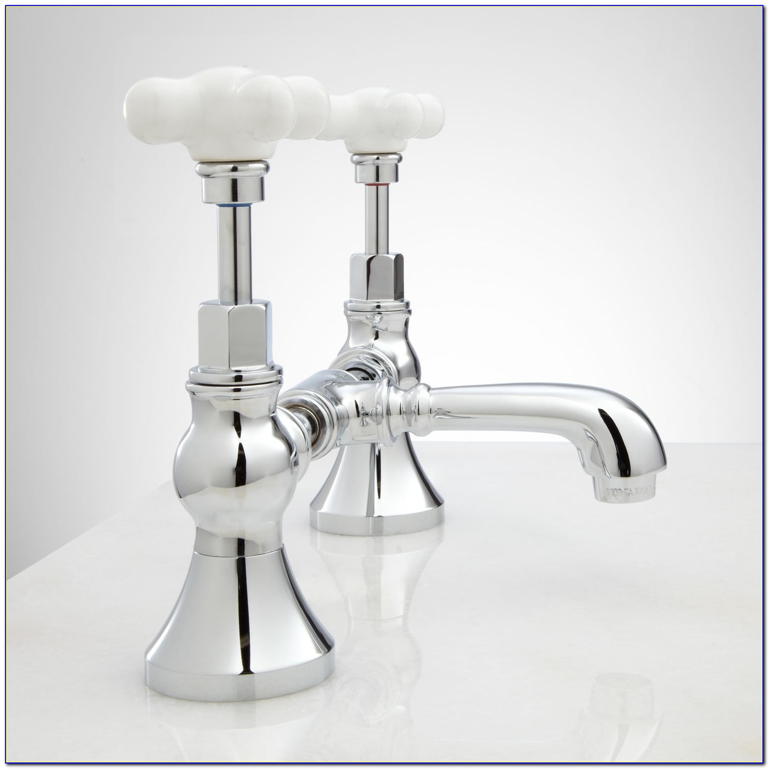 Porcelain Cross Handle Tub Shower Faucet