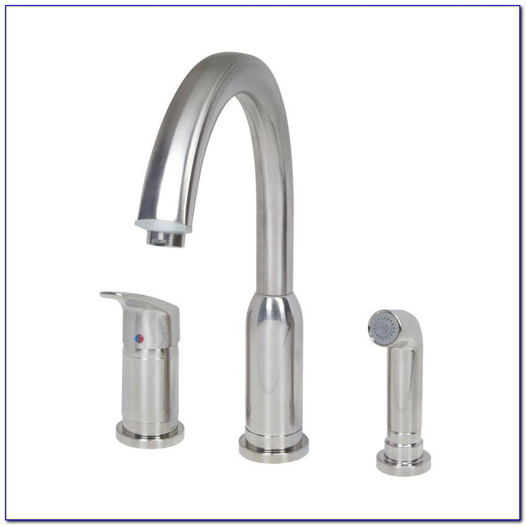 Pull Down Kitchen Faucet With Separate Handle