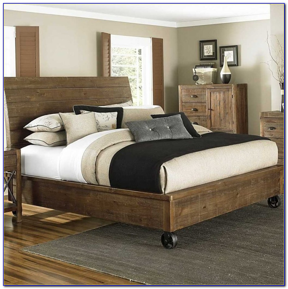 Queen Bed Frame With Headboard Attachment