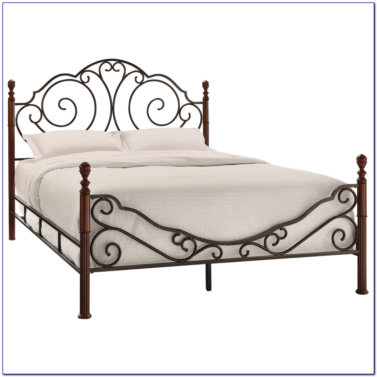 Queen Metal Bed Frame Headboard Footboard