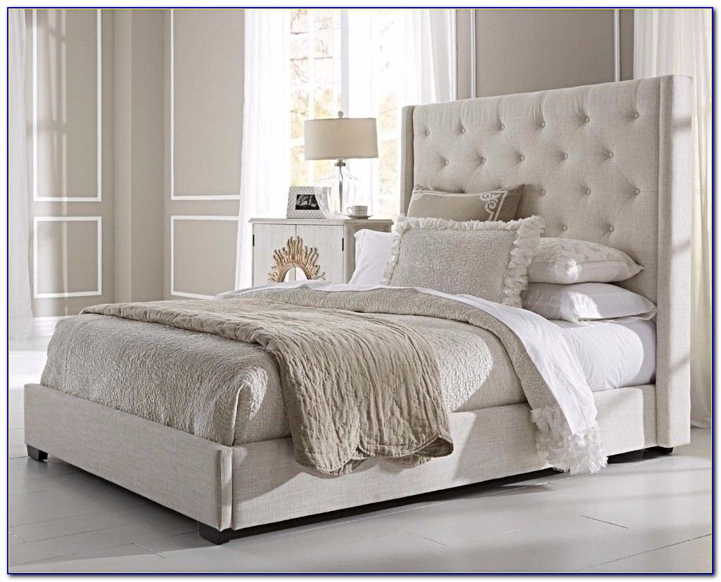 Queen Size White Padded Headboard