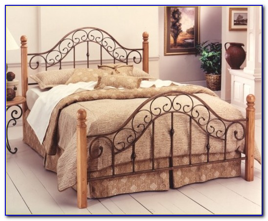 Rustic Wood And Iron Headboards