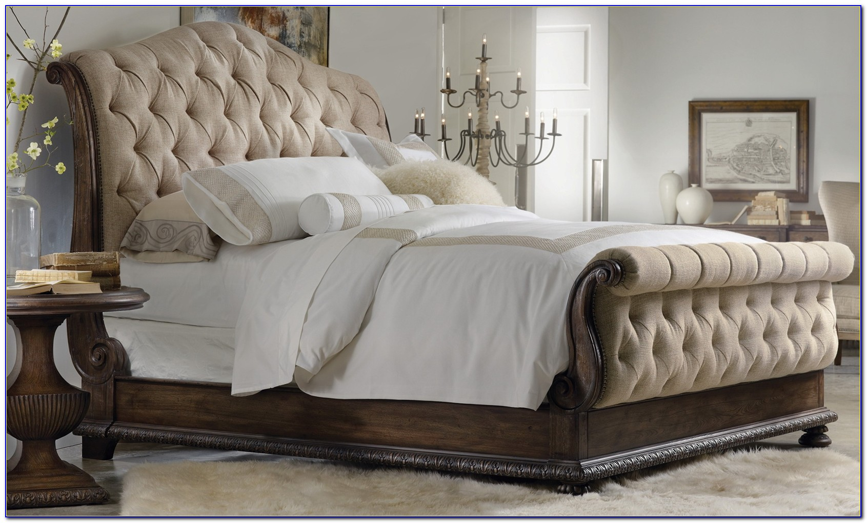 Tufted Headboard King Bed