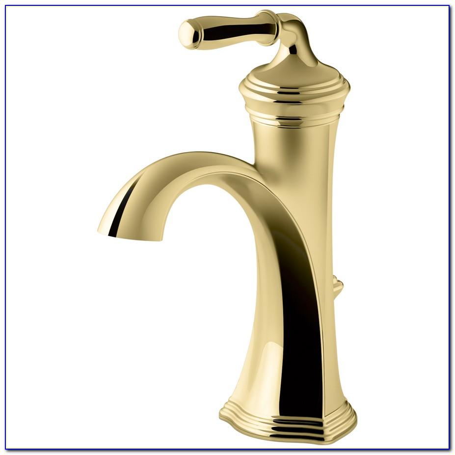 Single Handle Bathroom Faucet Polished Brass
