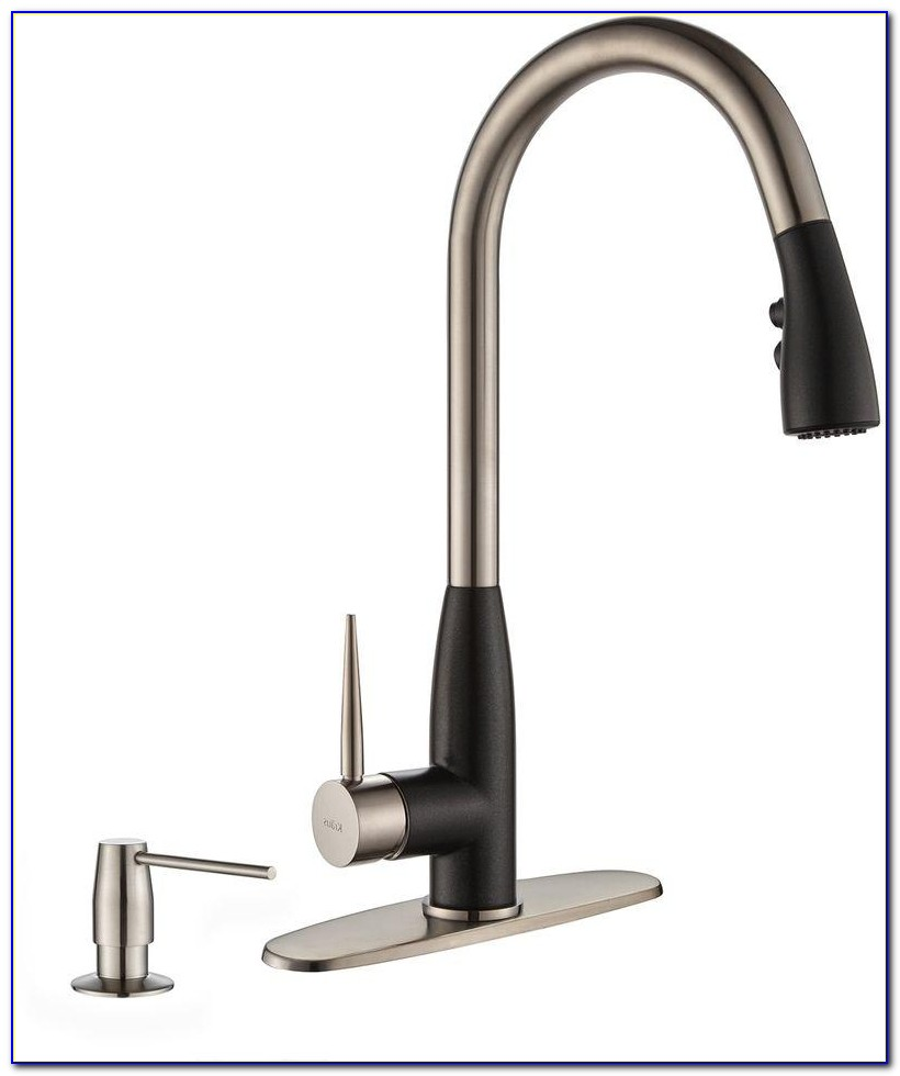 Single Handle Kitchen Sink Faucet With Pull Down Spray By Luxier