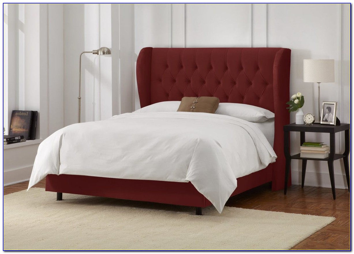 Skyline Furniture Loa Nail Button Tufted Wingback Headboard