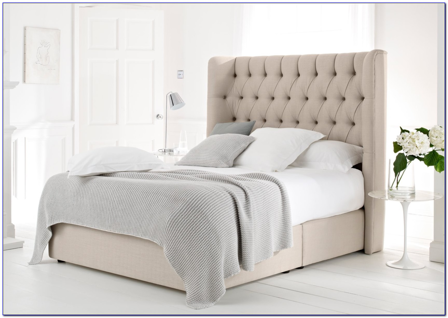 Sleigh Bed Headboard King Size