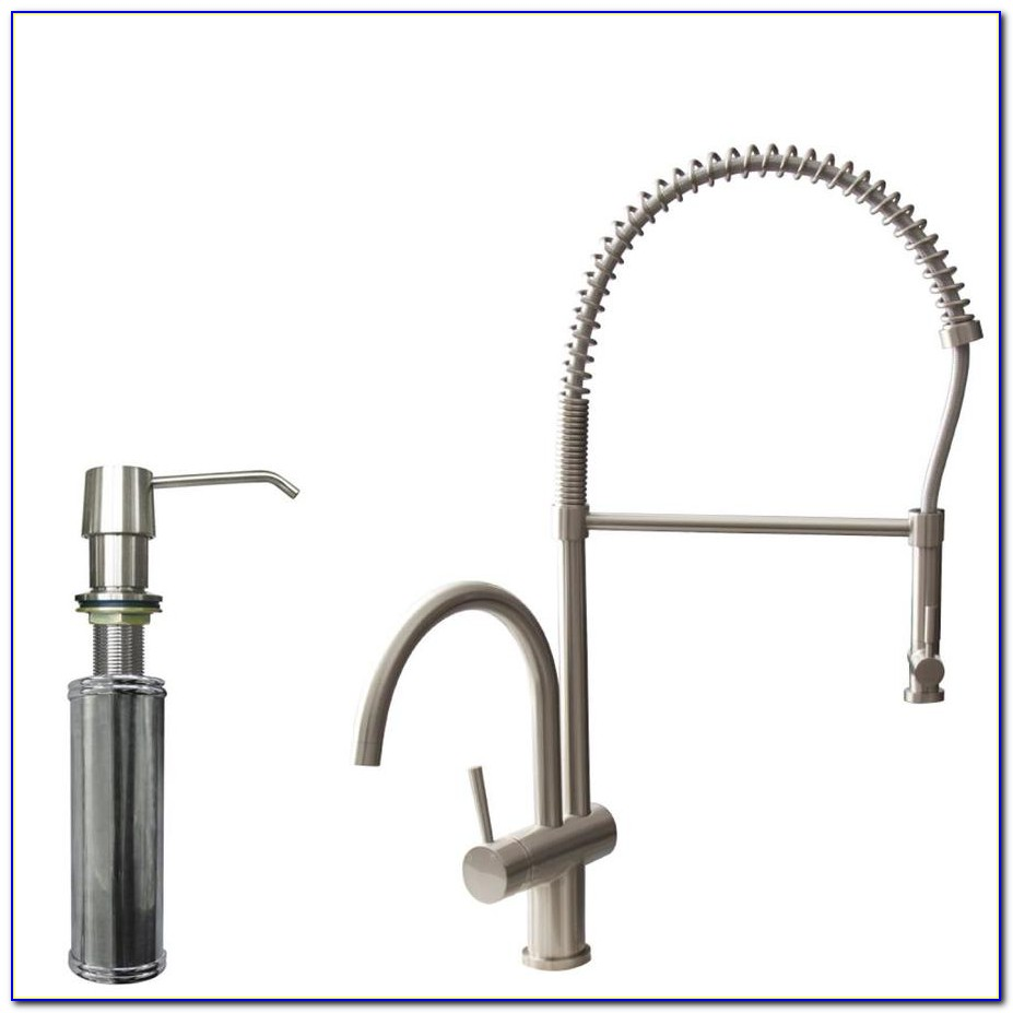 Stainless Steel Kitchen Faucet With Soap Dispenser