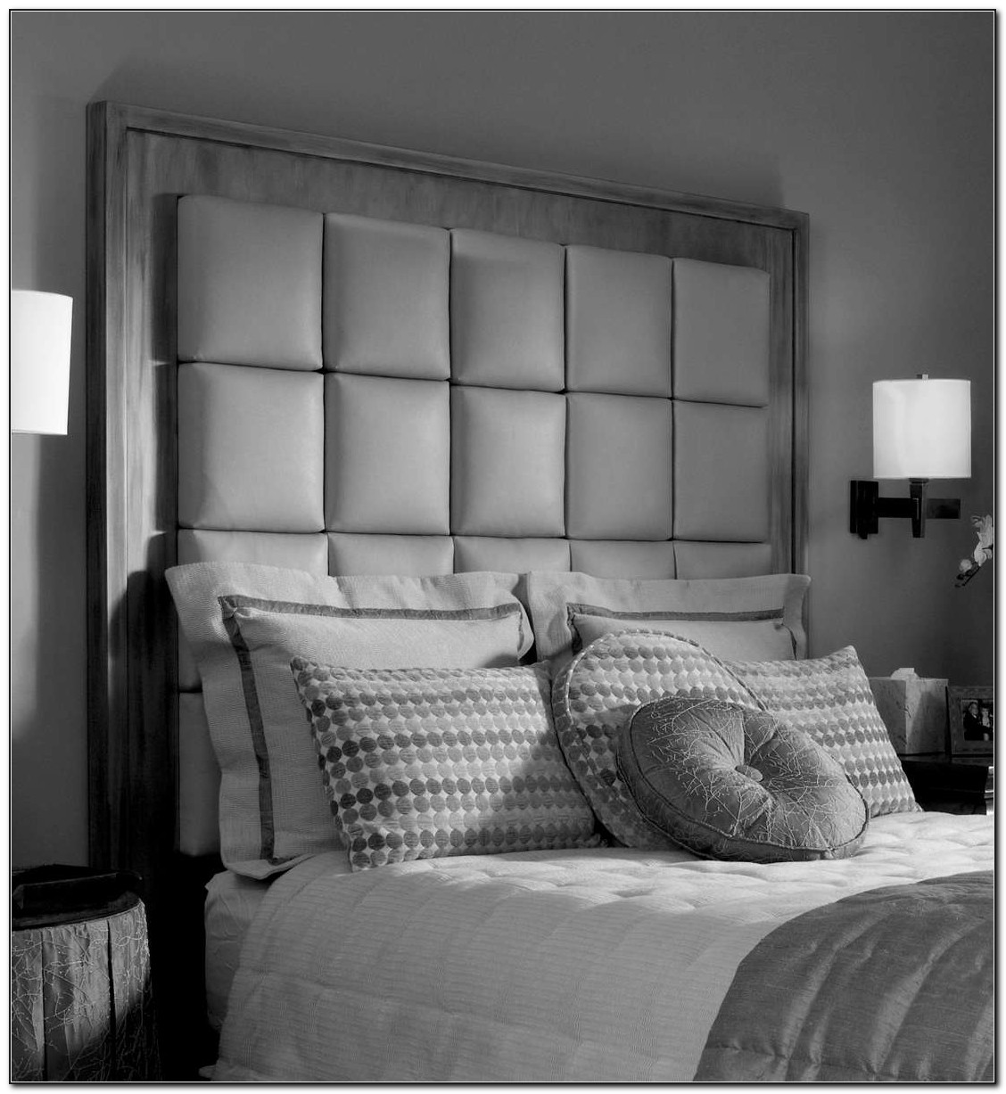 Tall Upholstered Headboard Cal King