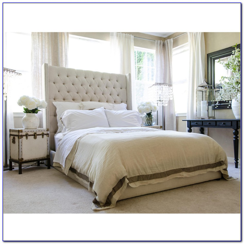 Tall Upholstered King Size Headboard