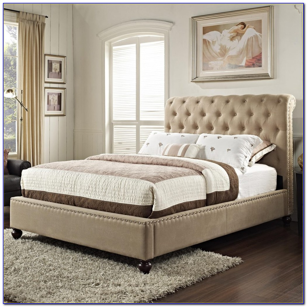 Tufted Headboard With Bed Frame