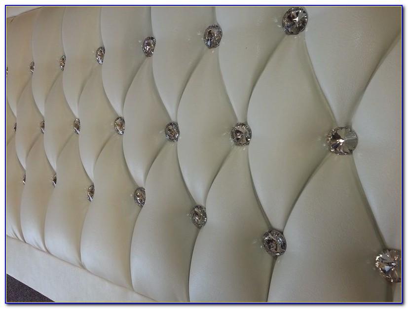 Tufted Headboard With Swarovski Crystals