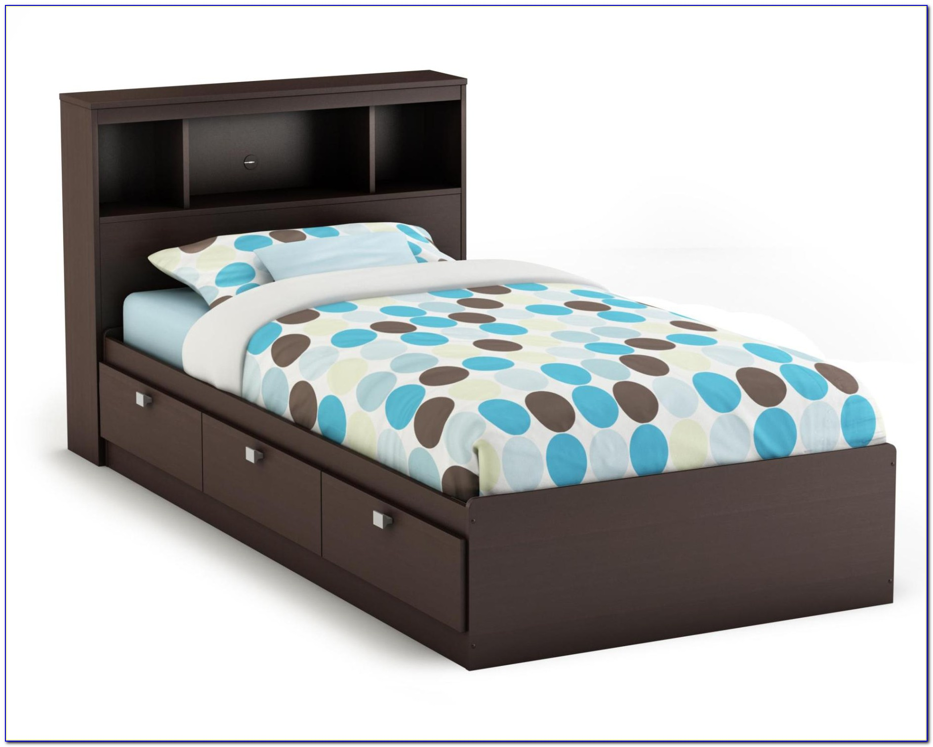 Twin Bed Frame With Storage And Headboard