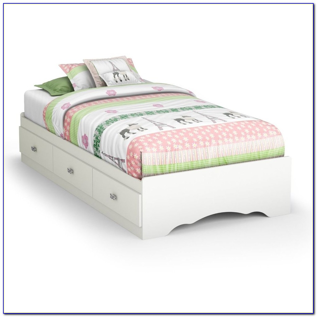 Twin Bed Frame With Storage No Headboard