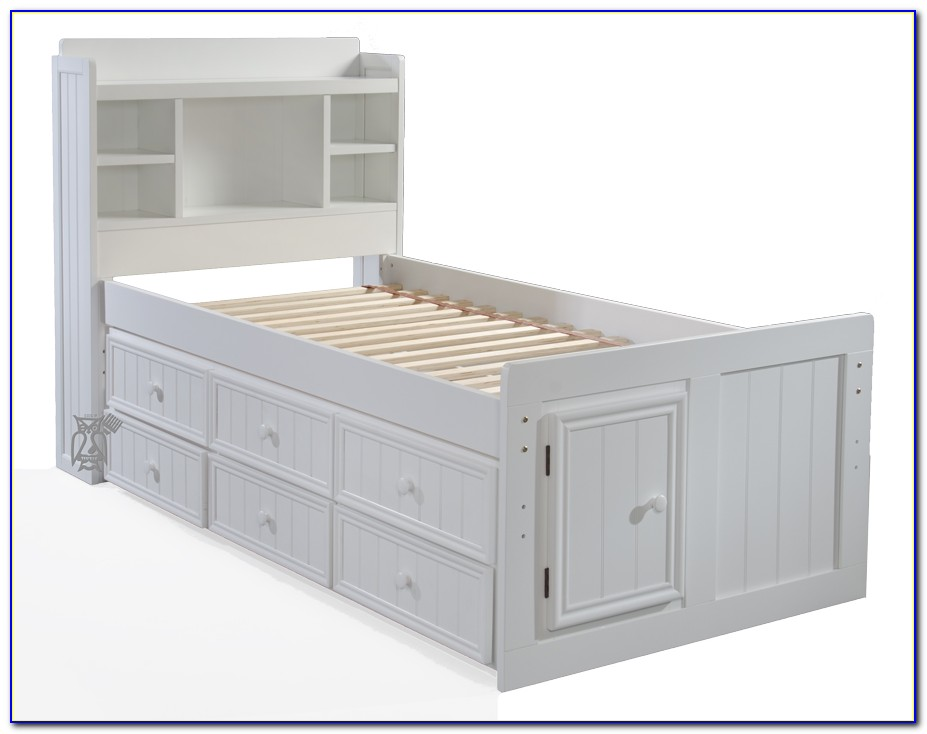 Twin Bed Storage Headboard