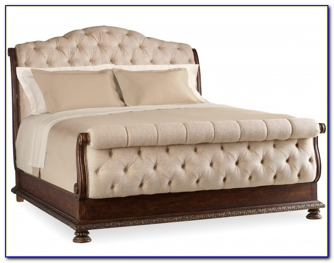 King Tufted Sleigh Bed With Upholstered Headboard And Footboard Set Photo 57