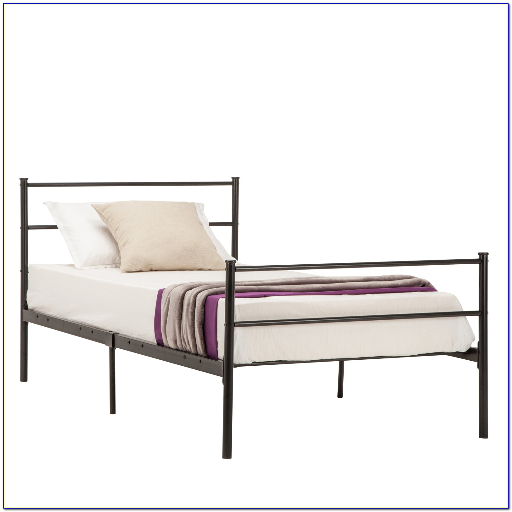 Twin Size Metal Bed Headboard & Footboard