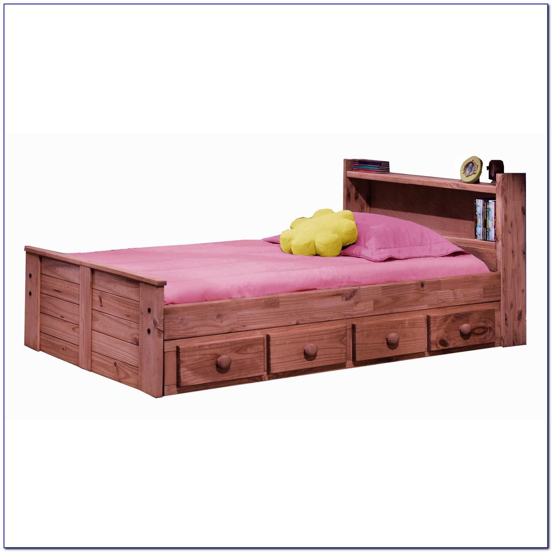 Twin Storage Bed With Bookshelf Headboard