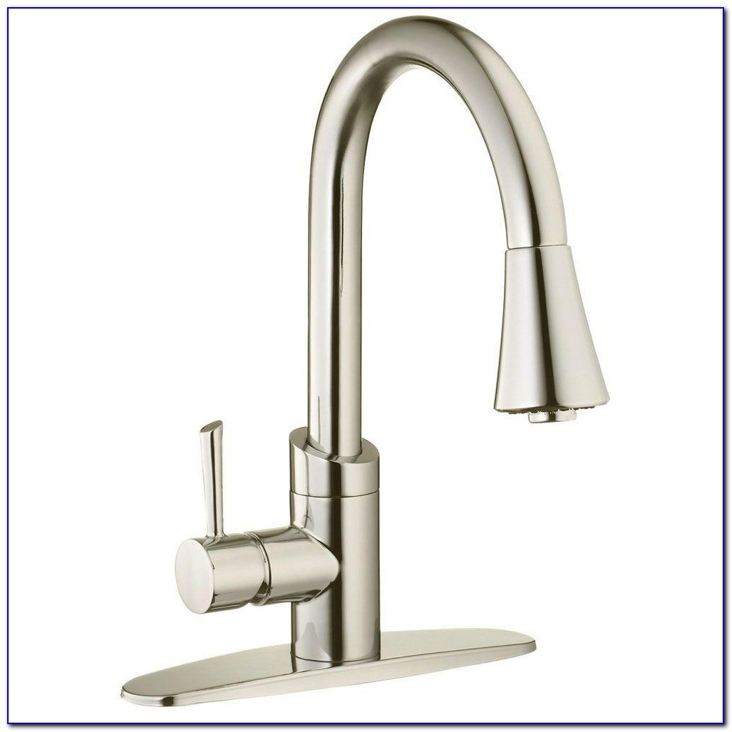 Two Handle Kitchen Faucet Pull Down Sprayer