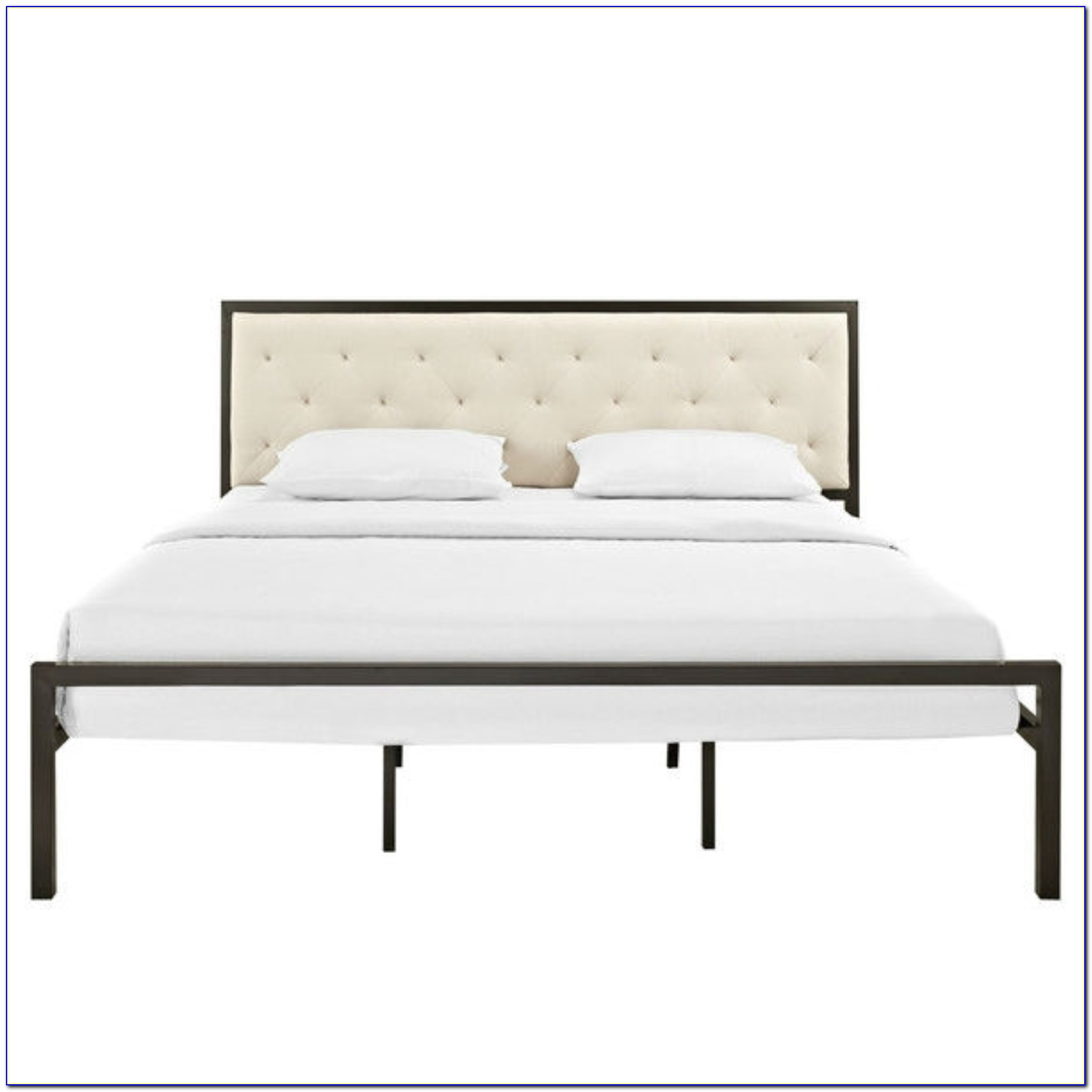Upholstered Bed Frame Without Headboard