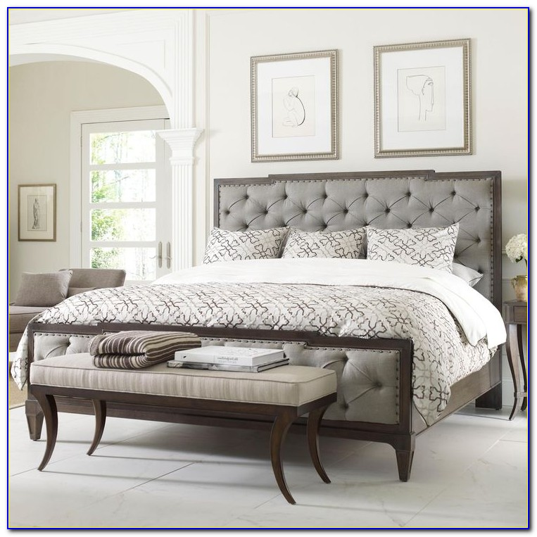 Upholstered Headboard And Footboard King Bed