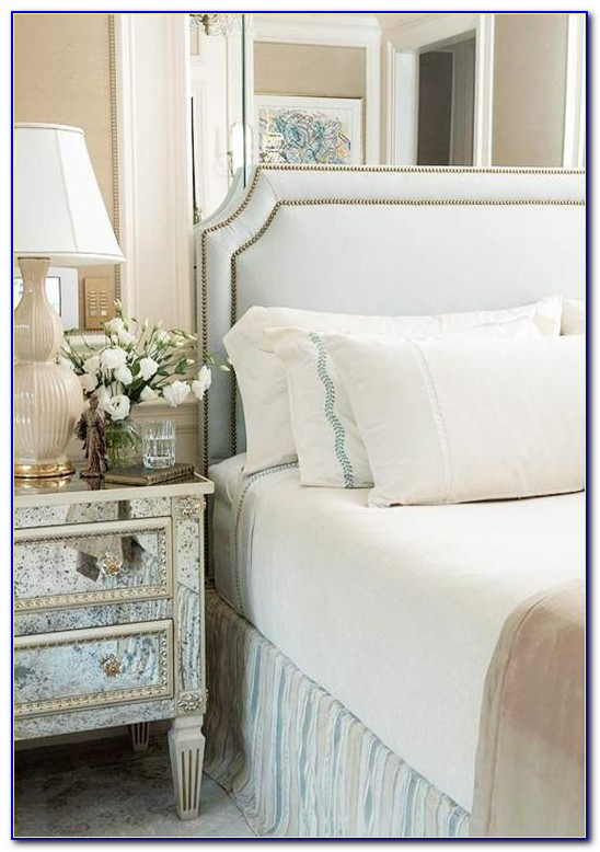 Upholstered Headboard With Nailhead Trim And Tufted