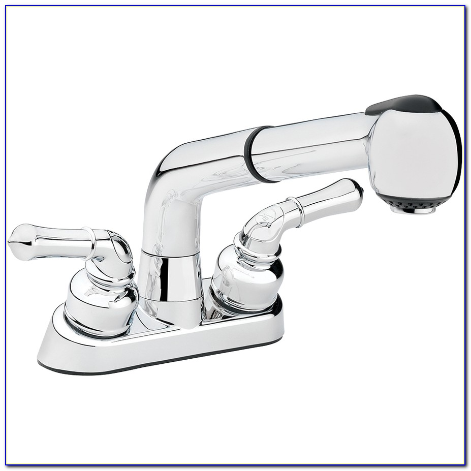 Utility Sink Faucet With Pull Out Sprayer