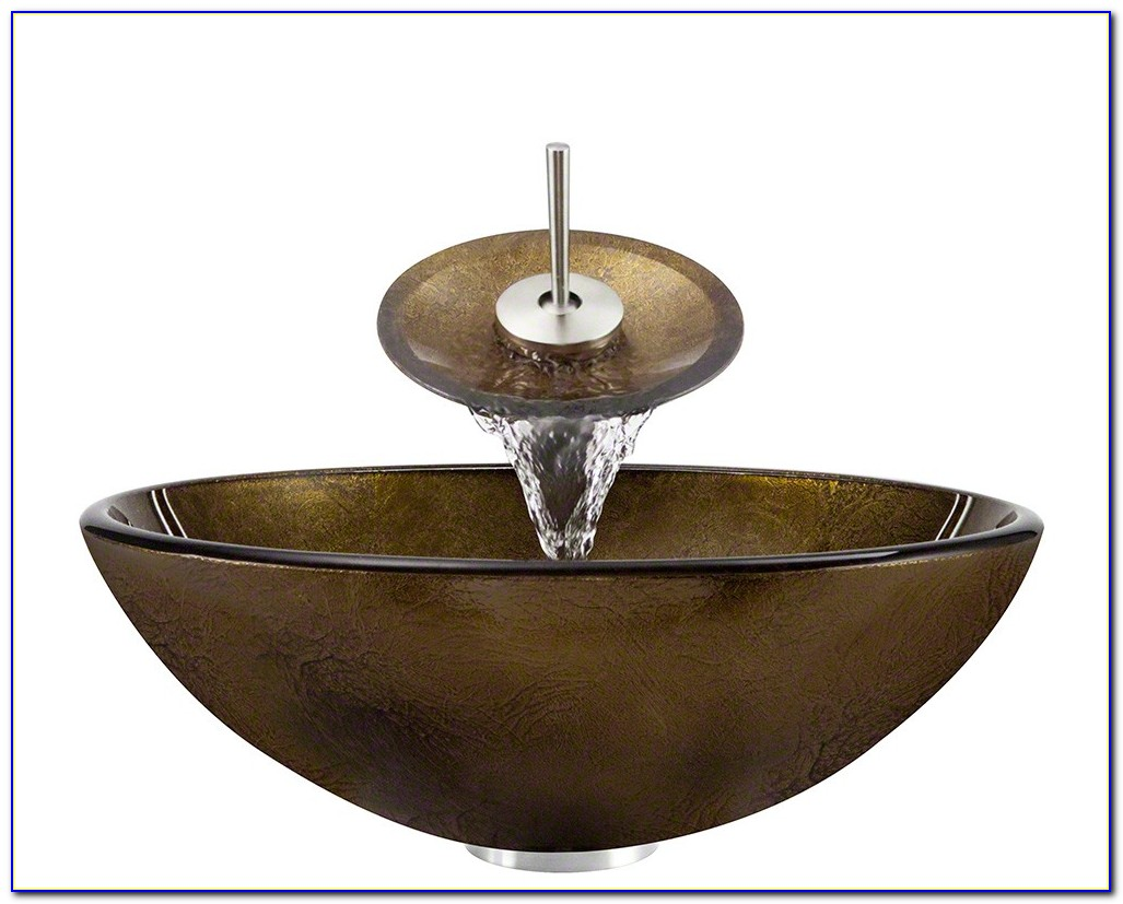 Vigo Vessel Sink With Waterfall Faucet