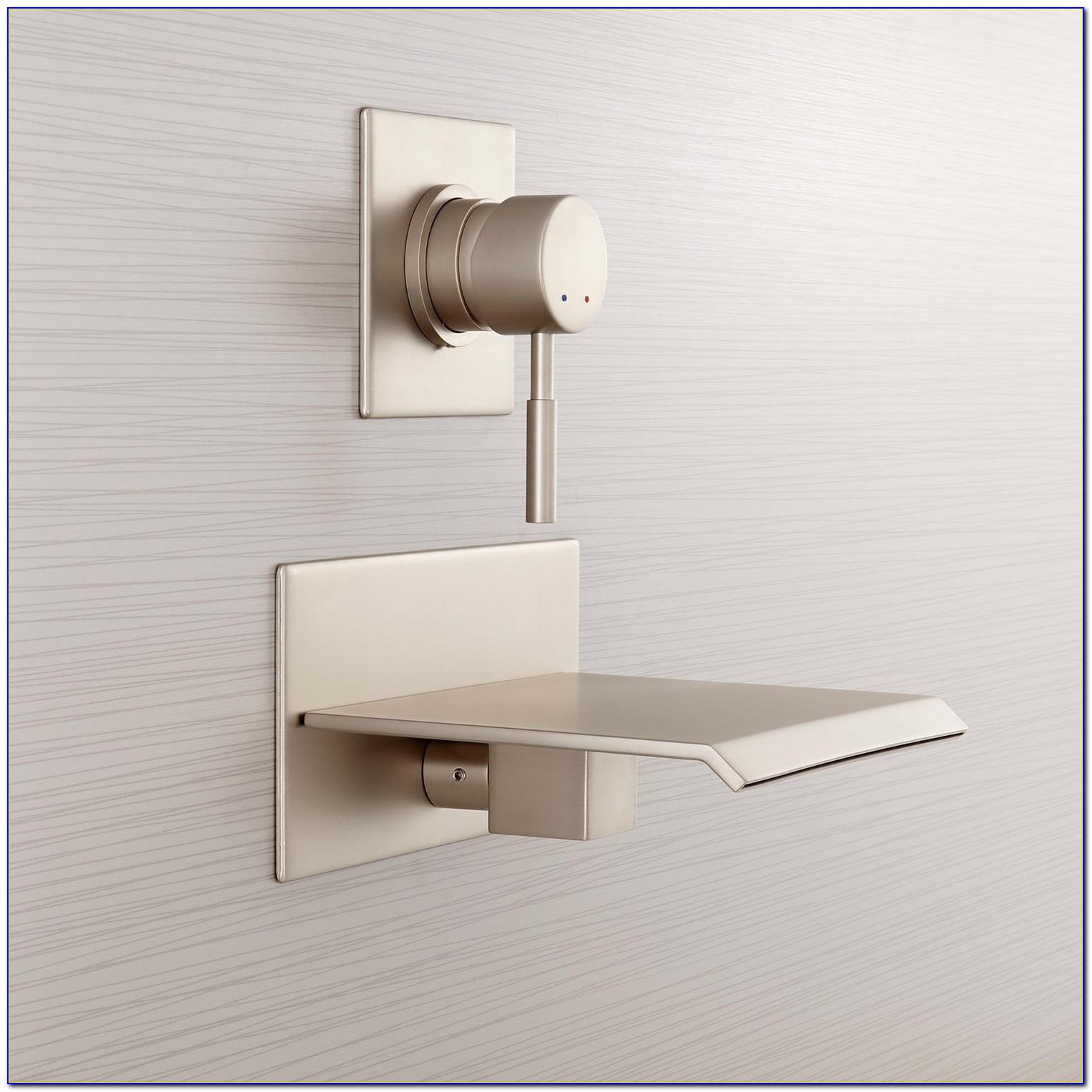 Waterfall Wall Mount Tub Filler Faucet & Hand Shower